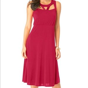 Roamans Red Dress with cutouts, Plus size